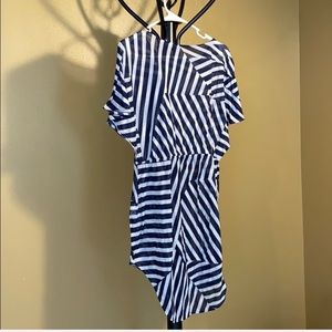 H&M dress/coverup, blue and white stripes, large